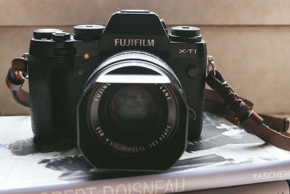 Fujifilm X-T1 with Fuji 35mm ƒ/1.4 XF lens. Strap by  Cub & Company .