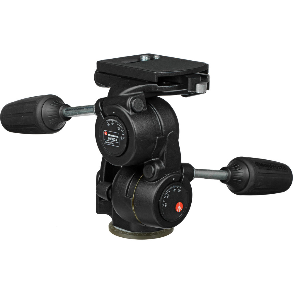 MANFROTTO 808RC4 3-WAY PAN/TILT HEAD with RC4 Quick Release - $155