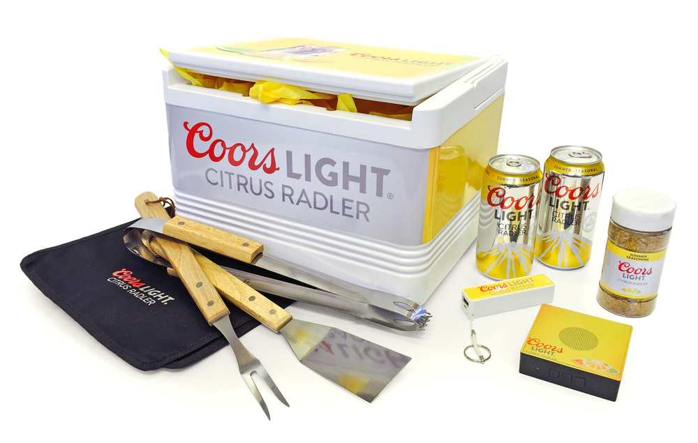 Coors Light Citrus Radler Mailer Merchandizing Shot