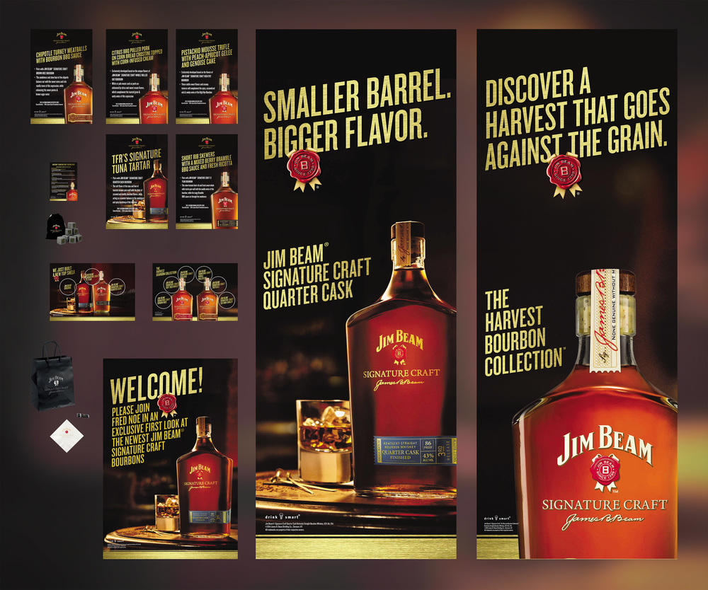 Jim Beam Signature Craft Flat Iron Tasting Event Signage