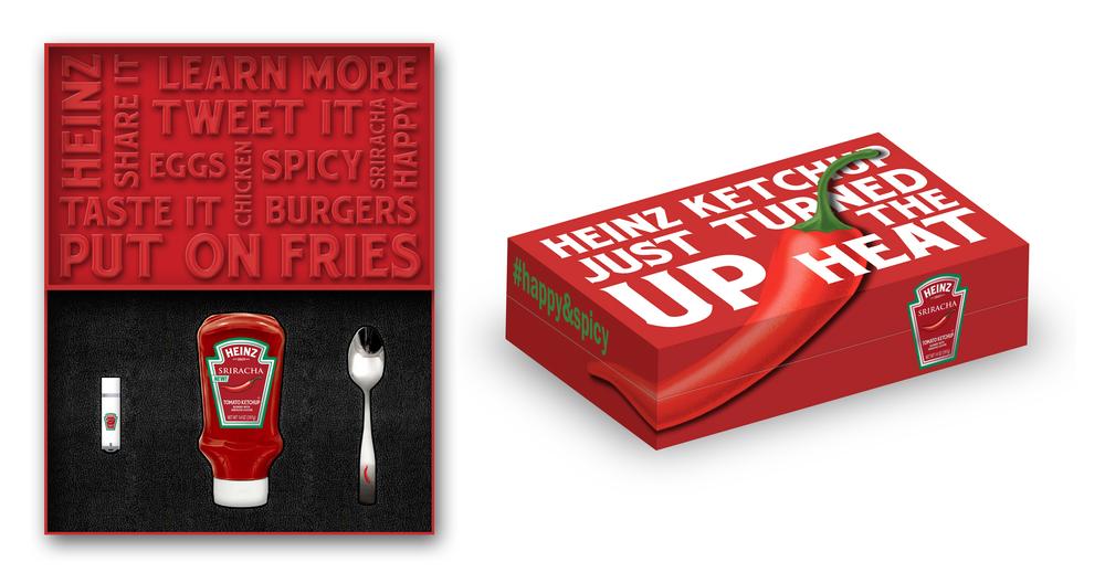 Heinz Sriracha Mailer Box Mockup