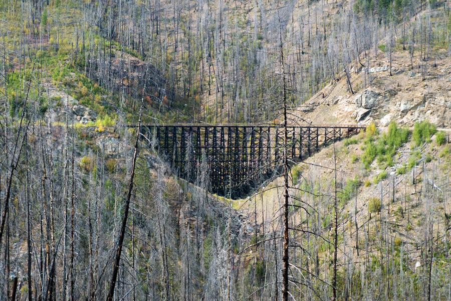 myra canyon bike trail