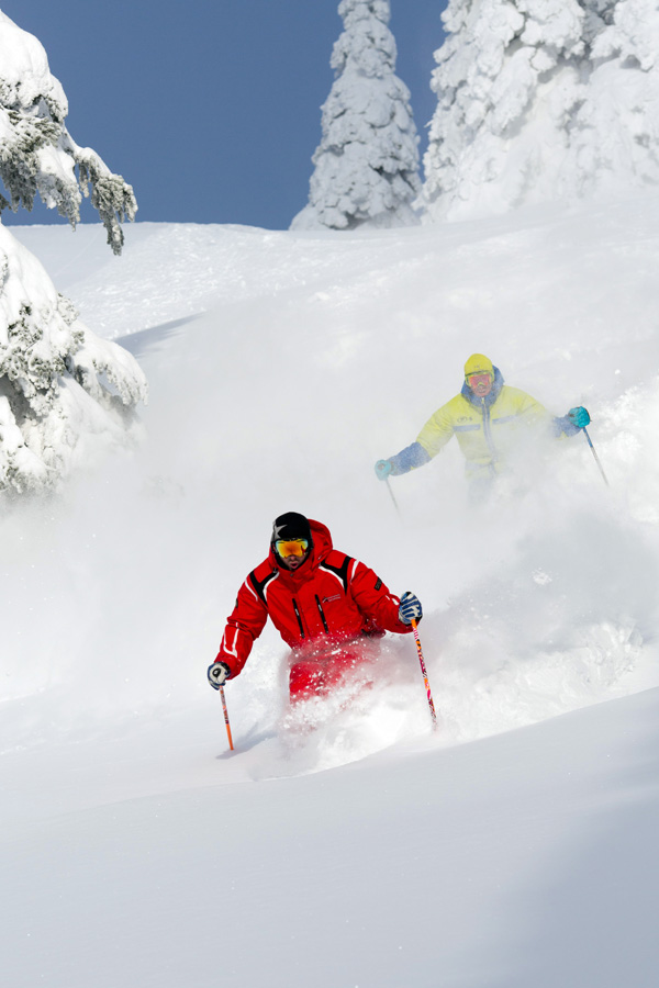 Powder Morning at Silver Star Mountain Resort