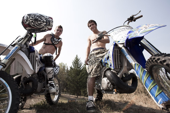 Morgan & Cody Kaliszuk, Chris Nolan, Dirt Bike Tricks