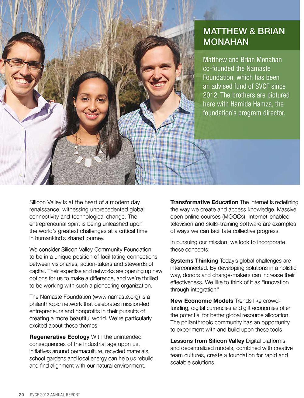 SVCF 2013 Annual Report