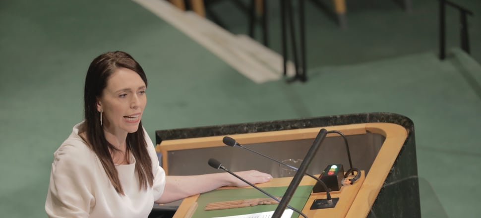 Prime Minister Jacinda Ardern addresses the United Nations General Assembly.