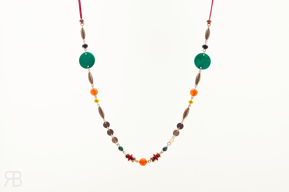Shell Beaded Long Necklace - Matalan