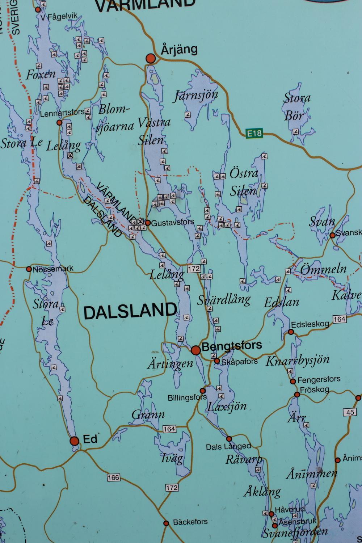 AIMG_0072 Kort Dalsland Nordmarkens Sjösystem zoom på området ved Bengtsfors.JPG