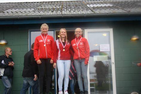 tre af de stærke U16 piger fra Silkeborg. Fra venstre: Freya Vium Madsen, Cathrine Rask og Line Langelund. (arkivfoto)