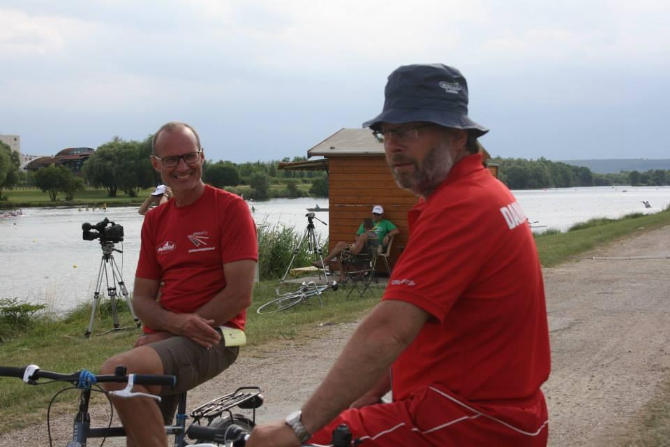 John Svendsen og Finn Pape (med bøllehat).