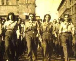 Italian women marching