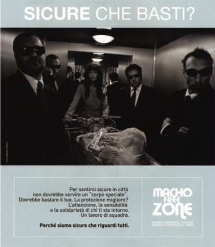 """Are you sure you are safe?"" (Macho Free Zone Campaign poster)"""
