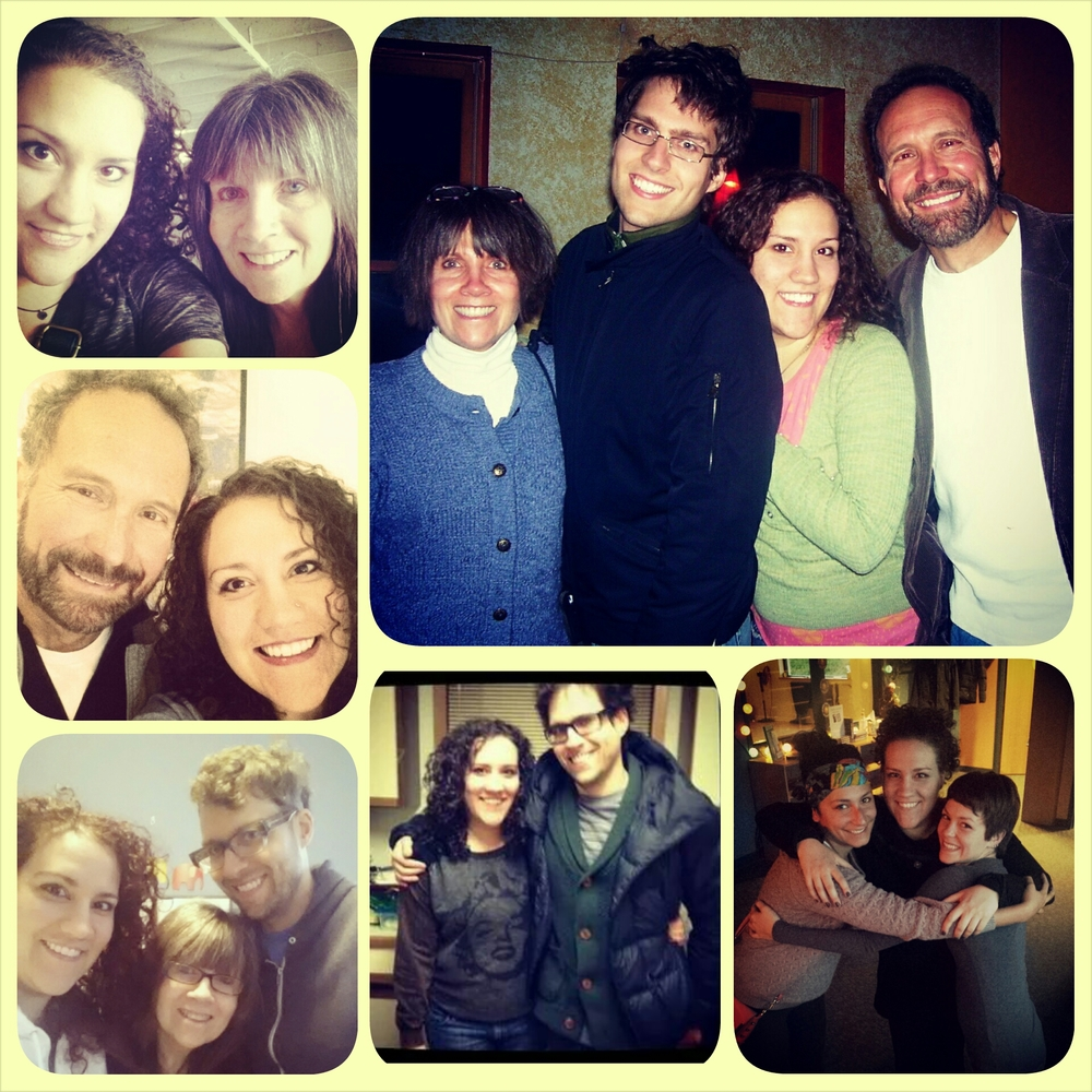from clockwise: momma and I; dad and I; my brother, mom, and I; the whole fam; brother and I; and besties Anju, Kelly, and I