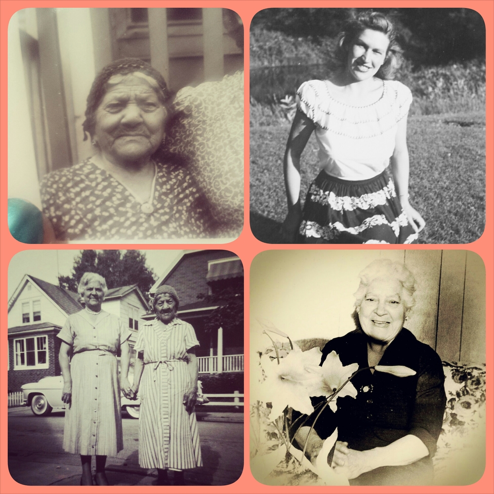 from clockwise: Great-Great nonna Giuseppina, mormor Elvira, Great nonna Rosaria (with her mother Giuseppina), and another photo of Great nonna Rosaria