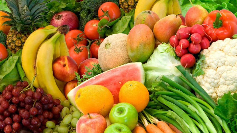 [feature image shows many fruits and vegetables  via ]