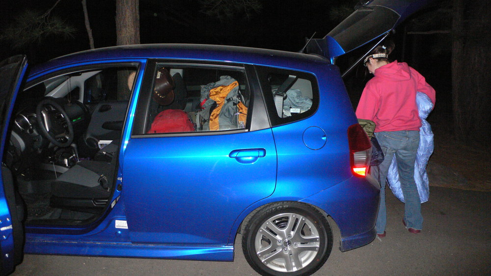 (Car being jammed full of stuff, 2008)