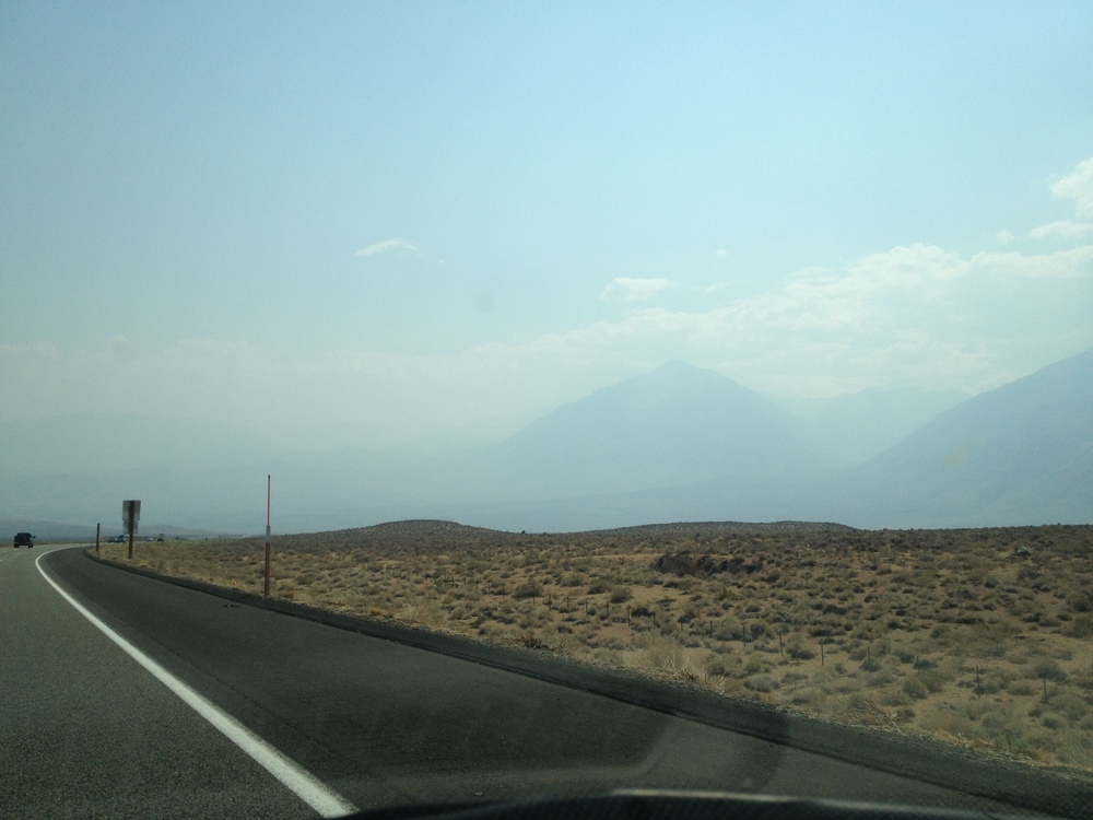 Smoke on the Eastern side of the Sierra Nevada