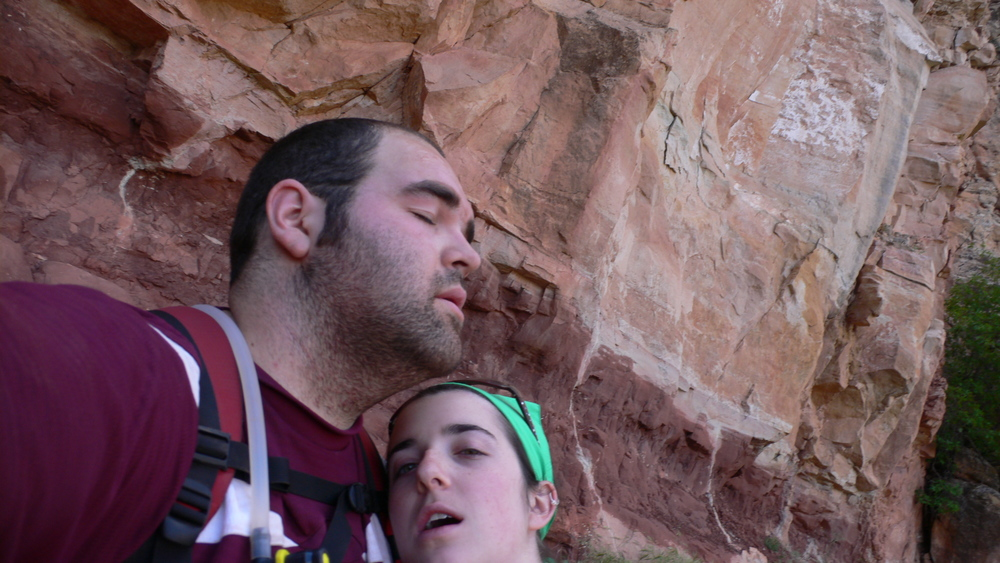 This is what exhaustion and defeat in the Grand Canyon looks like.