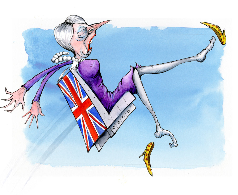 Mrs May exits the EU in an, um, ejector seat
