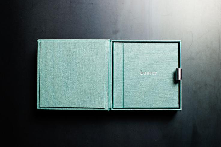 6x6 mint buckram + presentation box