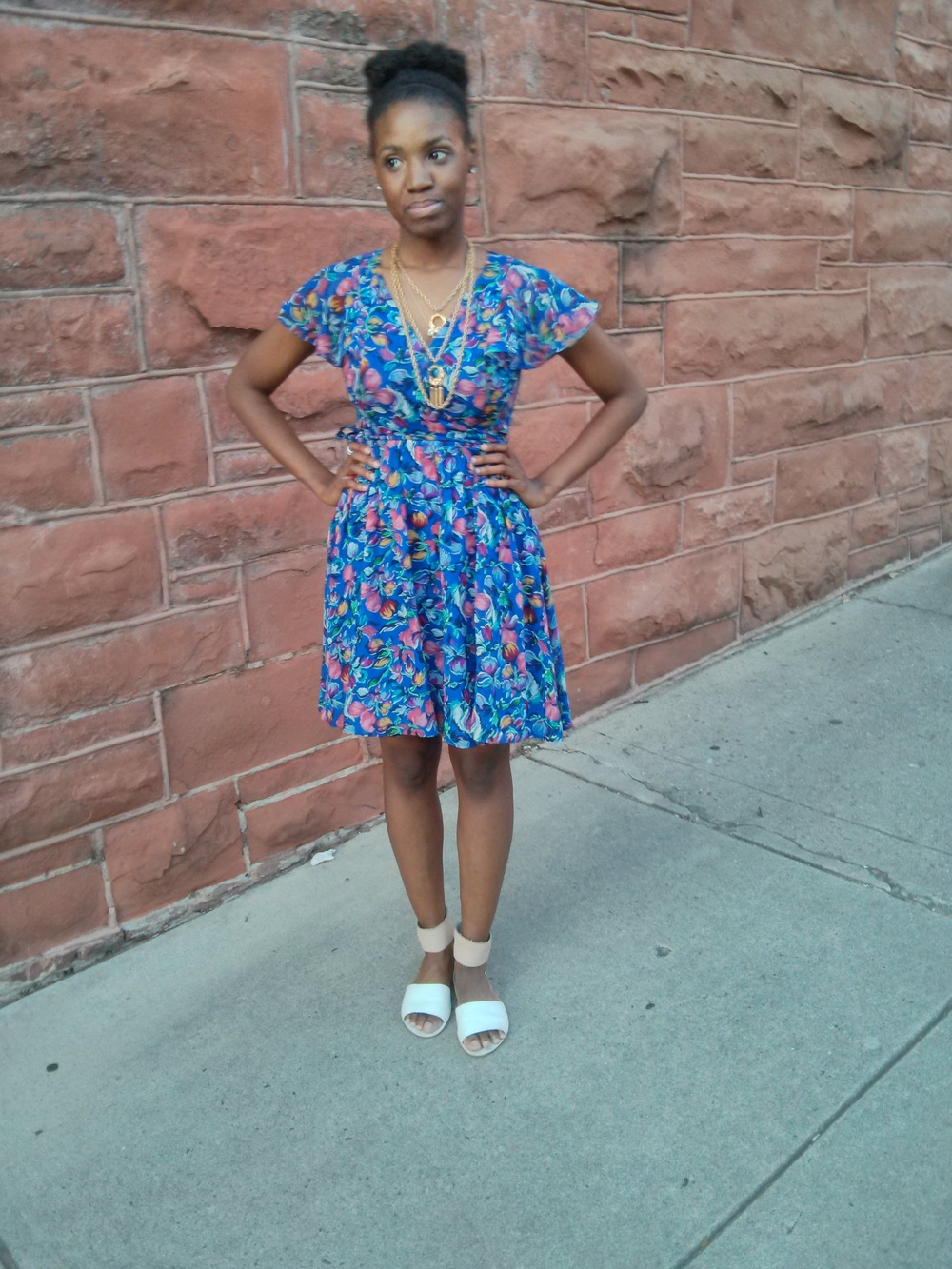 dress: Anthropologie; shoes: cheap monday c/o Urban Outfitters; necklace: vintage