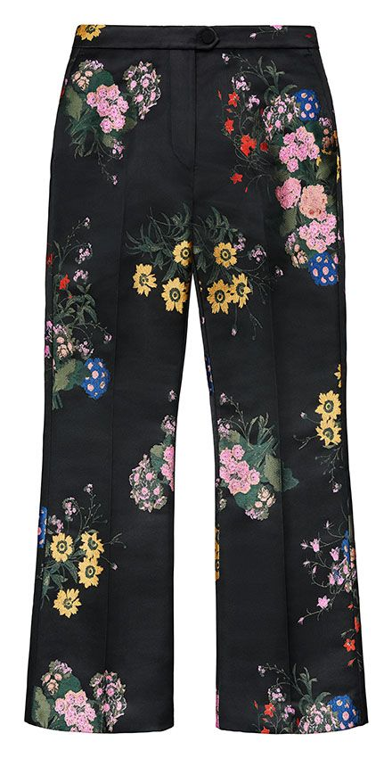 Jacquard patterned pants