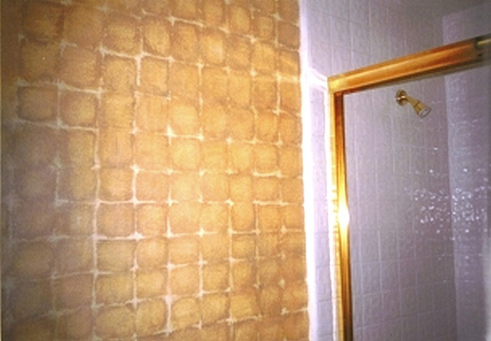 faux mettalic squares in bathroom.jpg