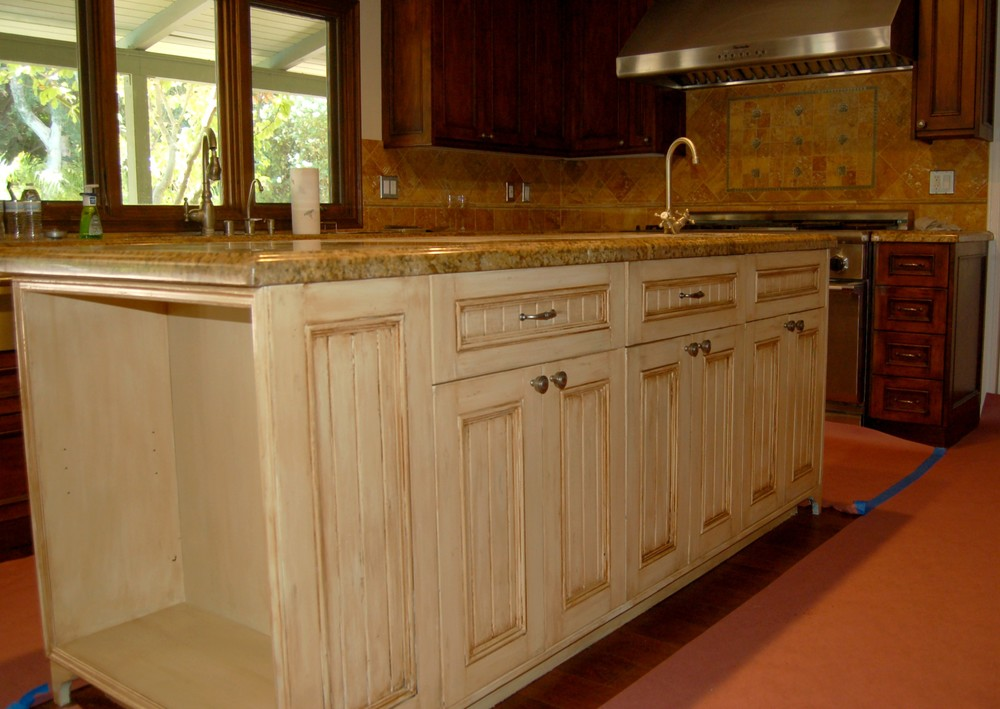 Kitchen island cabinet faux.JPG