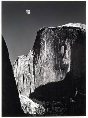 Ansel Adams - Moon and Half Dome