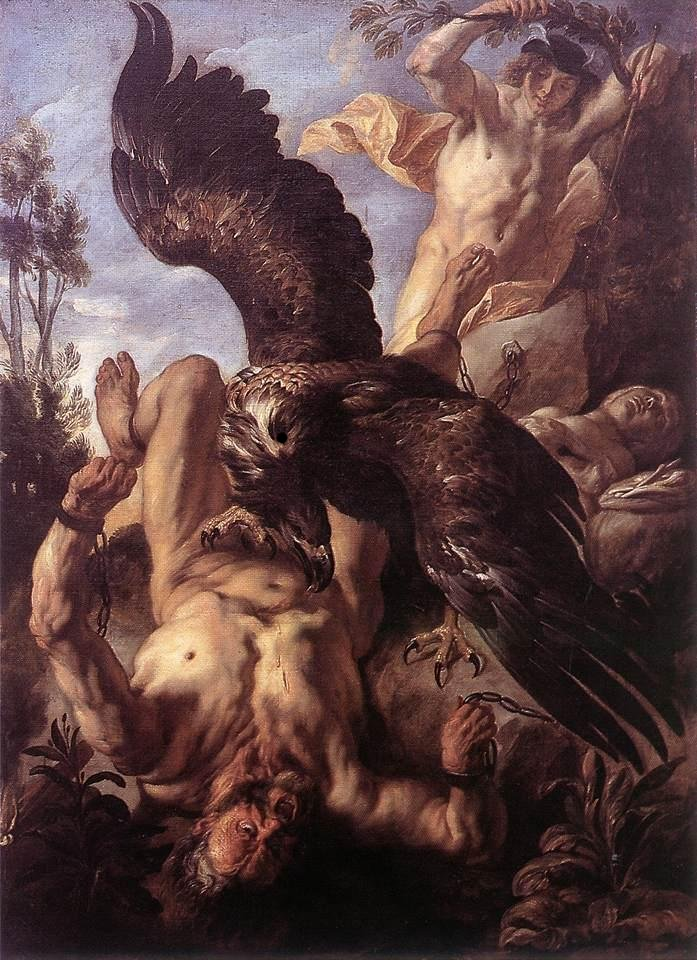 Prometheus Bound, Jacob Jordaens, ca. 1640