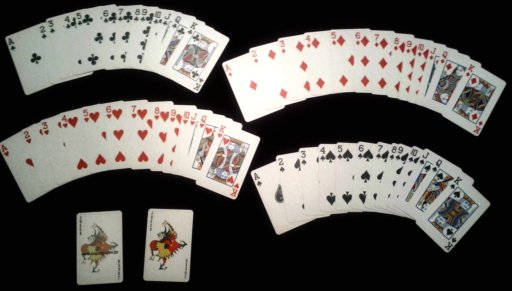 A standard deck from Copag, popular in casino poker rooms.