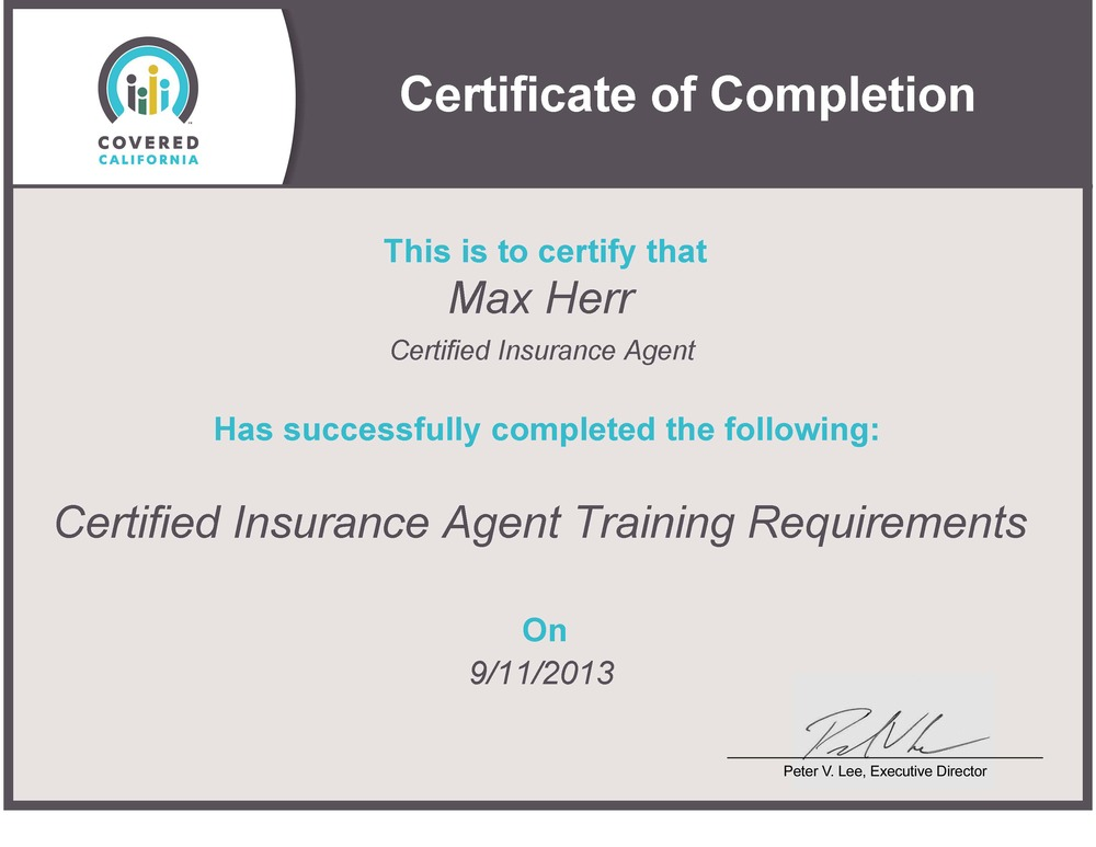 well insurance agent certification - photo #12