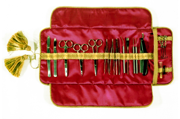 'Dissecting Set'. dissecting tools, satin. 2000