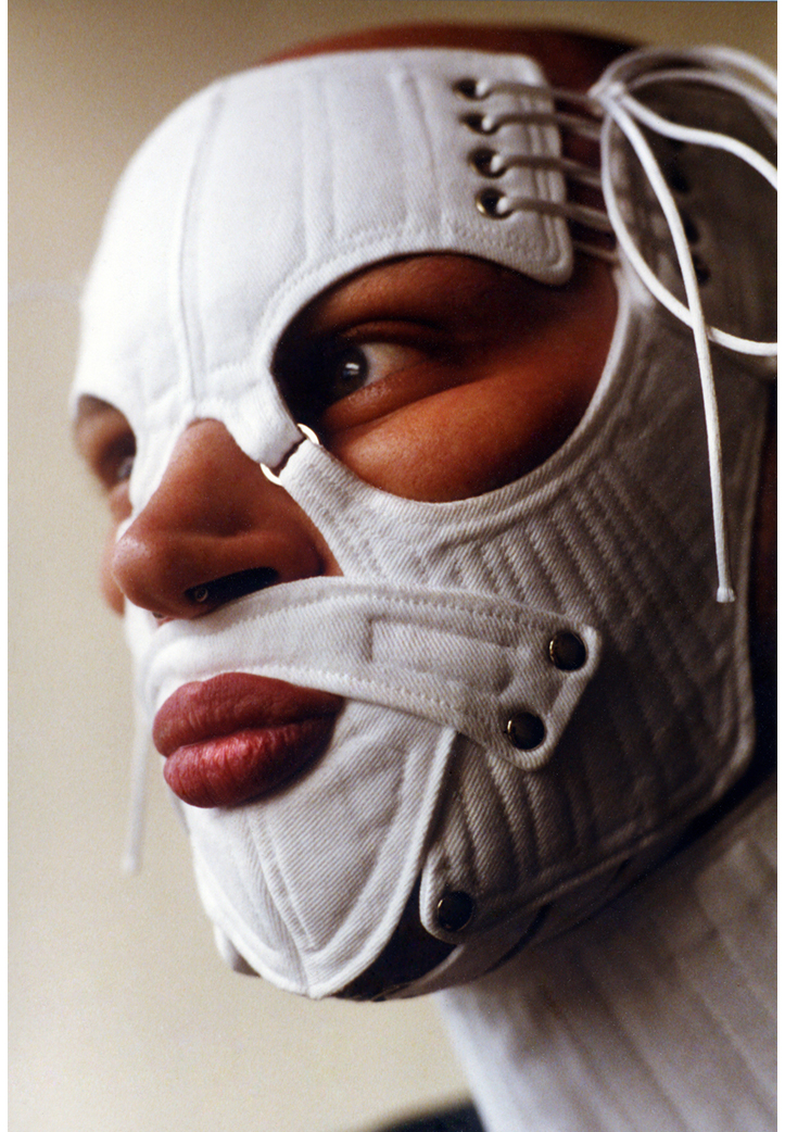 Face Corset.  White Cotton Drill. 2002