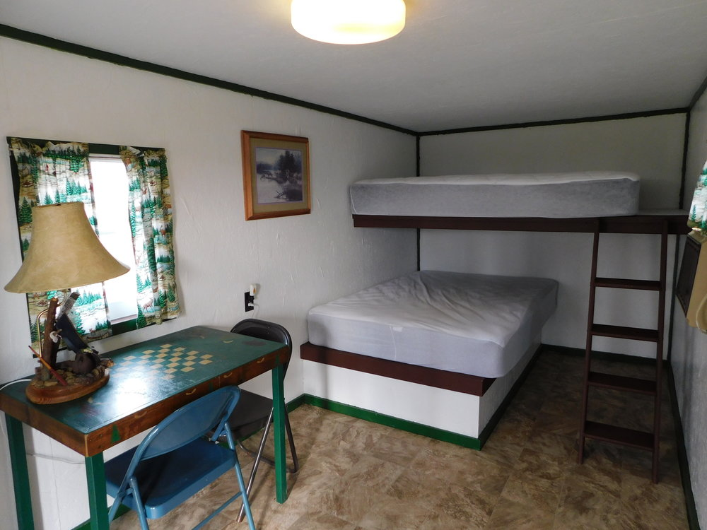 Inside of Bunkhouse-Just renovated! New paint, new flooring and, brand new mattresses! (Bring your own bedding) $25 per night + tax