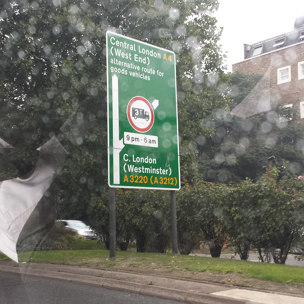 London Highway Signage