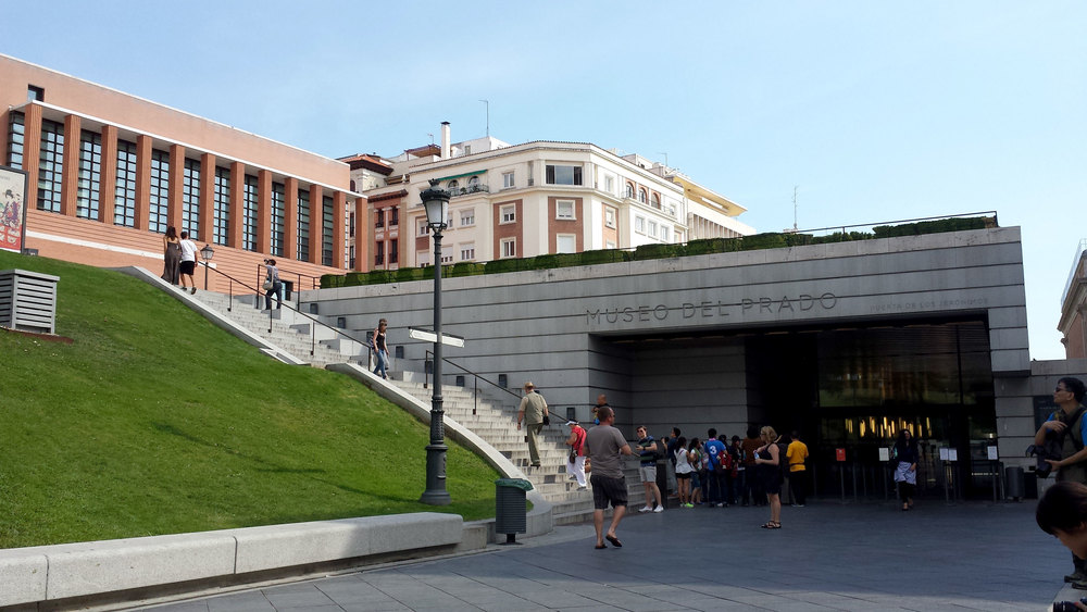 Outside the Prado