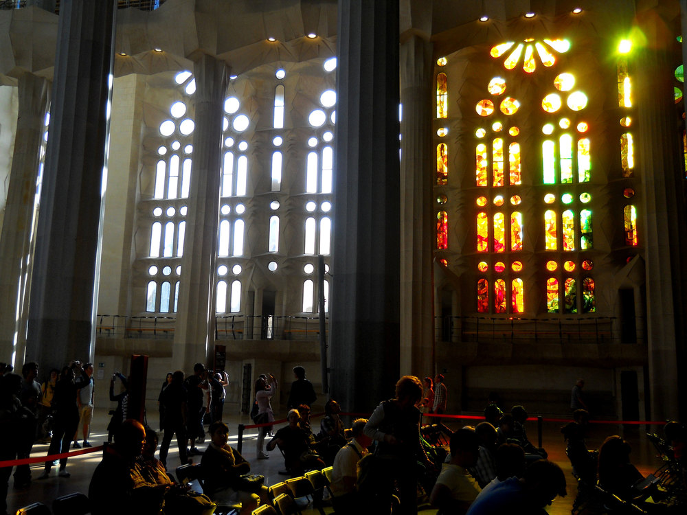 I expect, one day, the rest of the windows will be filled with stained glass too.