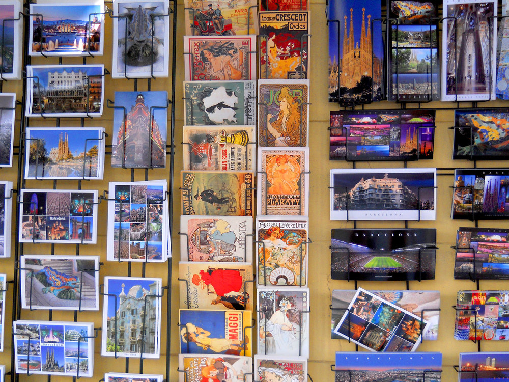 Postcards I would have sent you if they didn't expect my first born as payment to get them to the US.