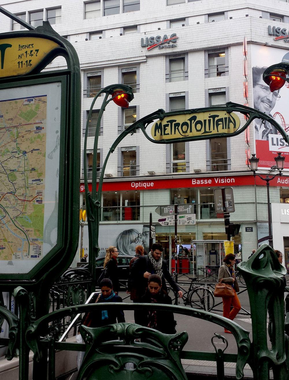 Paris has the prettiest metro entrances.