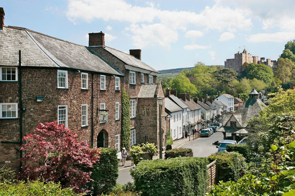 Dunster's beautiful medieval street.