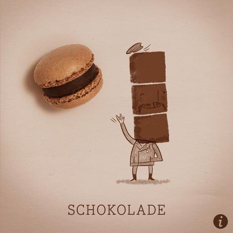 Schokolade Makrönchen