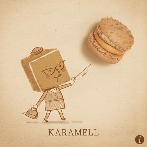 Karamell Makrönchen