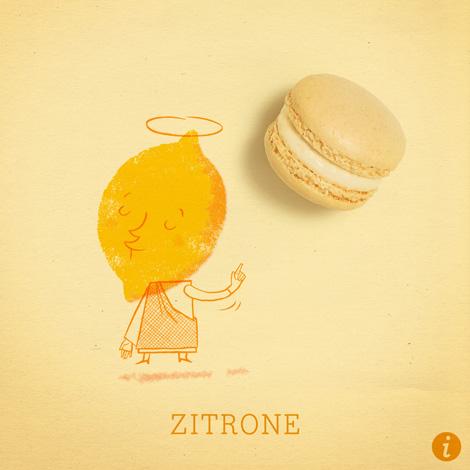 Zitrone Makrönchen