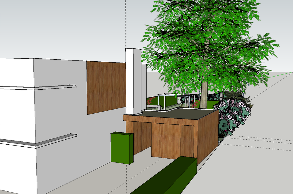 Ontwerp parktuin met tuinhuis en veranda tuinontwerp of tuinarchitect wij ontwerpen tuinen om - Ontwerp tuinhuis ...