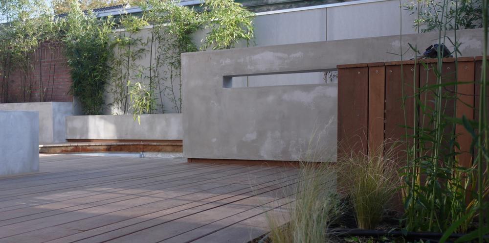 betonnen tuinmuur