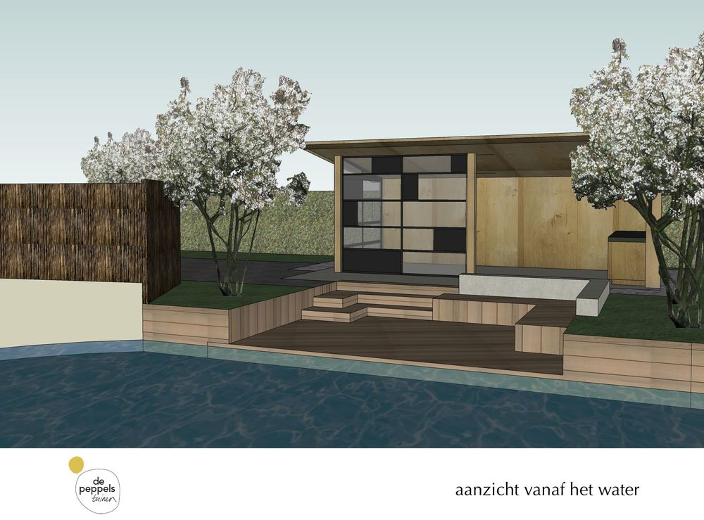 houten veranda in Amsterdam