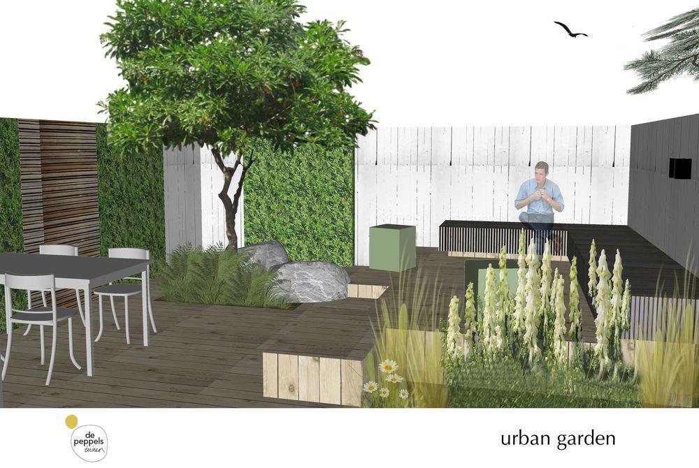 tuinontwerp moderne stadstuin in Amsterdam