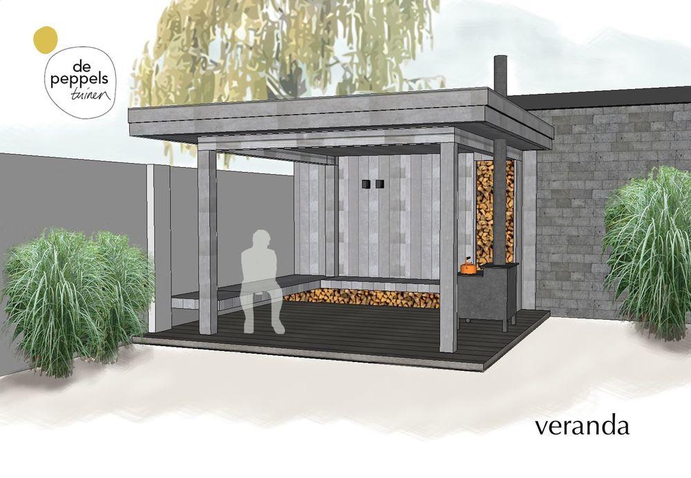 Stoere houten veranda Haarlem