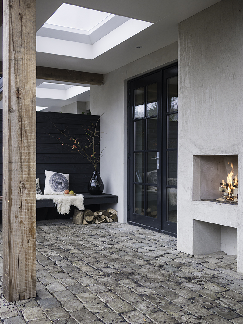 Tuinontwerp Amsterdam met houten veranda